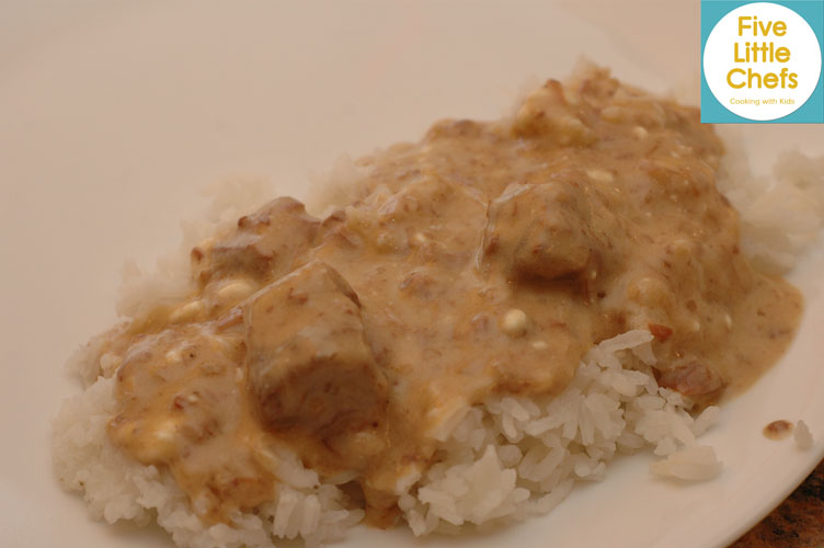 Beef Stroganoff from fivelittlechefs.com