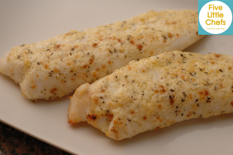 Broiled Tilapia Parmesan – just a few minutes under the broiler, mix ...