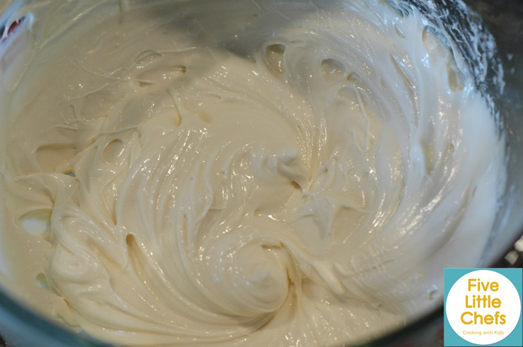 Whipped Cream Cheese Frosting | Five Little Chefs
