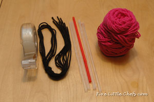Ingredients for Easy Weave Scarf