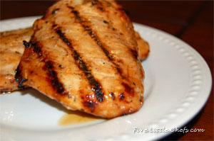 Tangy BBQ Chicken Marinade from fivelittlechefs.com