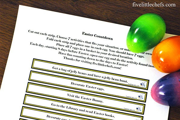 countdown to easter printable