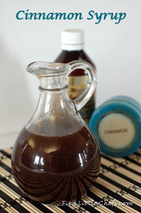 Cinnamon Syrup from fivelittlechefs.com. Use ingredients already in your pantry! Super simple to make! Quick recipe! #cinnamon #syrup #recipe #breakfast
