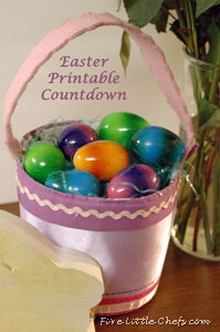 Easter Printable Countdown from fivelittlechefs.com #easter #printable