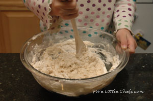 mixing the dough