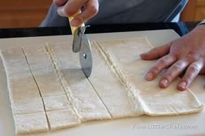 cuttingpastry for zesty orange bites
