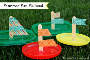 DIY Sailboat is one of those fun dollar store crafts that can be done each year. DIY crafts keep your little ones busy and with these  kids crafts they can also get wet!