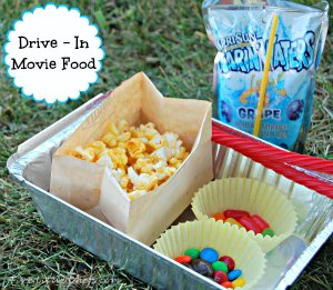 How do you make your drive in movie more fun? Come see how we do it at fivelittlechefs.com #drive in food