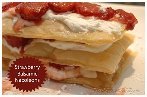 Strawberry Balsamic Napoleons from fivelittlechefs.com #recipe #strawberry