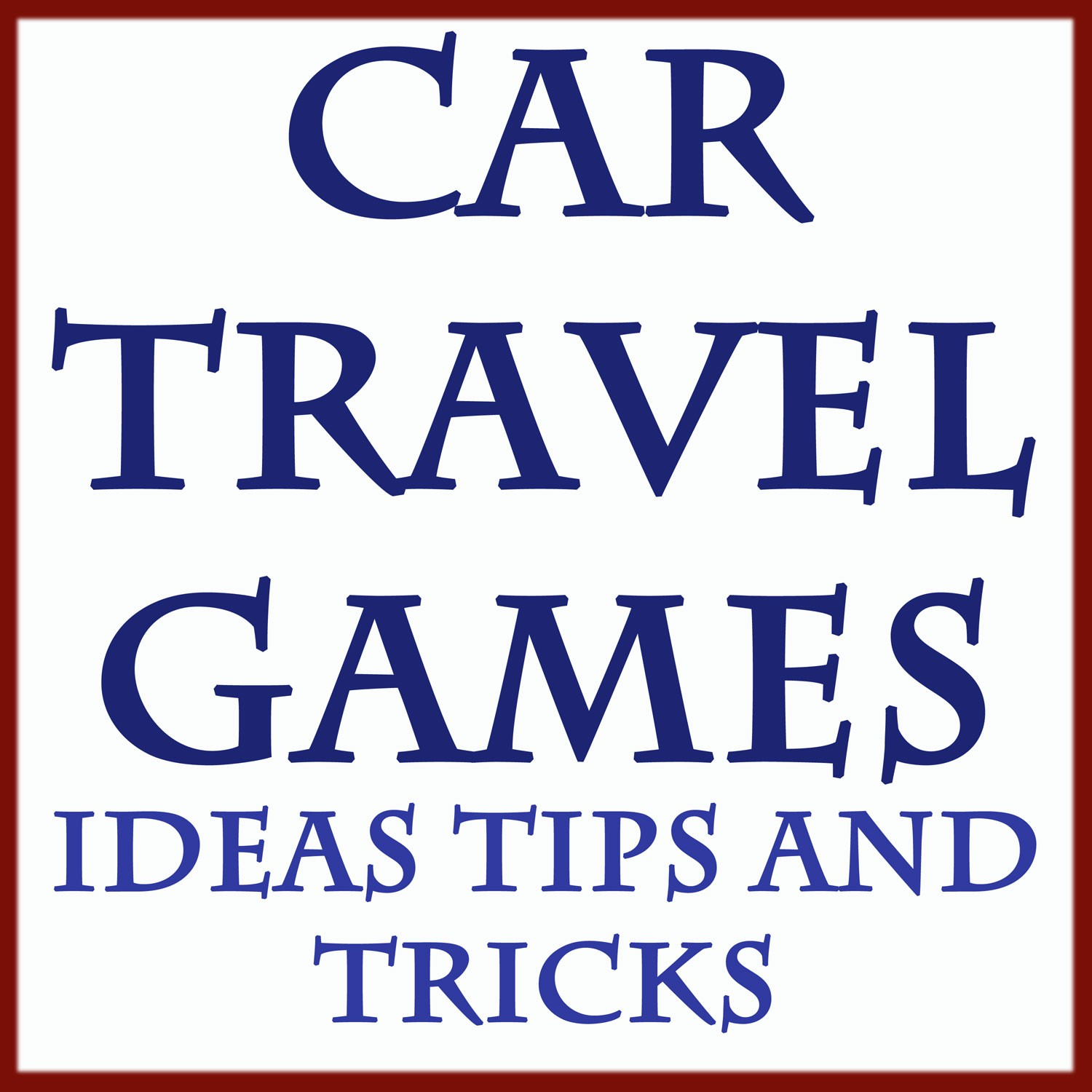 Car travel games