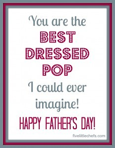 Best Dressed Pop Free Printable for fathers day from fivelittlechefs.com #fathers day #printable #kids crafts