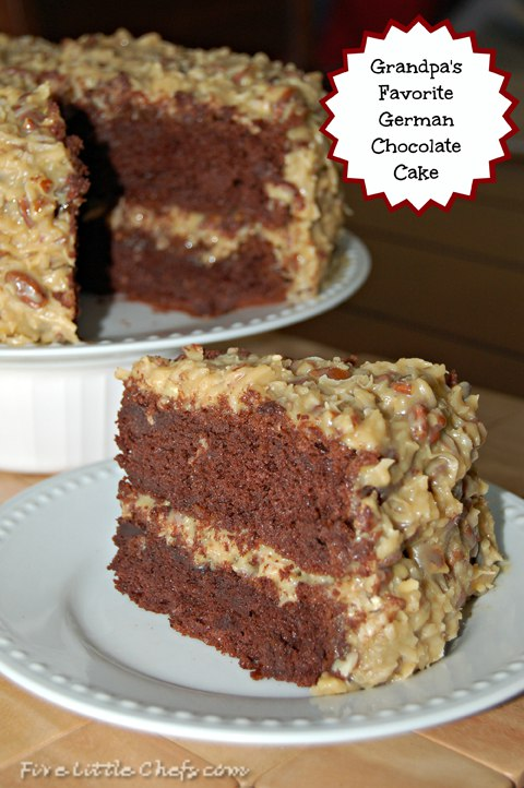 German Chocolate Cake | Five Little Chefs