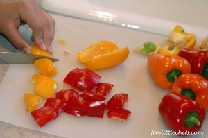 cutting-peppers