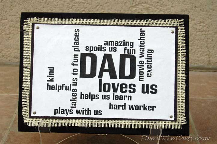 A Fun Custom Fathers Day Gift Your Dad Will Love From Fivelittlechefs Com Fathers