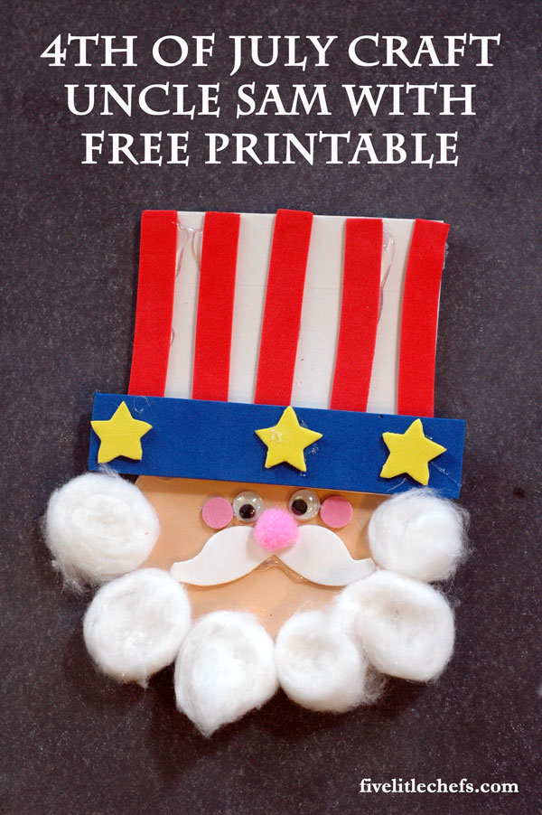 Uncle Sam 4th of July Crafts are fun. This DIY craft is the perfect patriotic craft for kids.