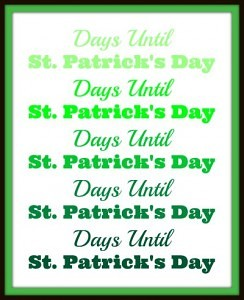 Free St. Patrick Day Wordart from fivelittlechefs.com