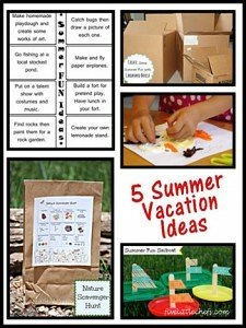 5 Summer Vacation Ideas to keep your kids busy and creative from fivelittlechefs.com #summervacationideas