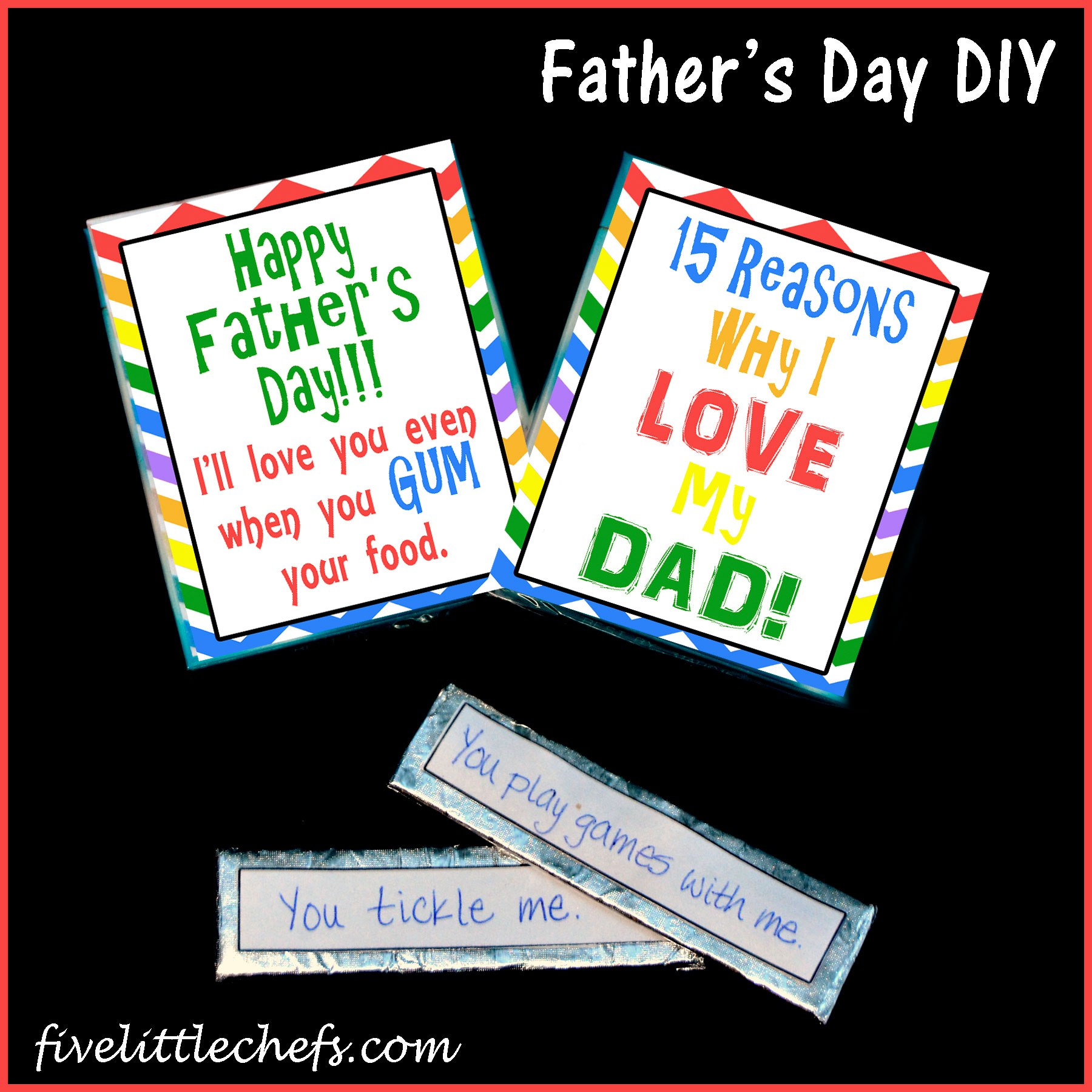Father's Day Gift Idea from fivelittlechefs.com #fathersday