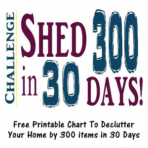 chart to declutter your home in 30 days