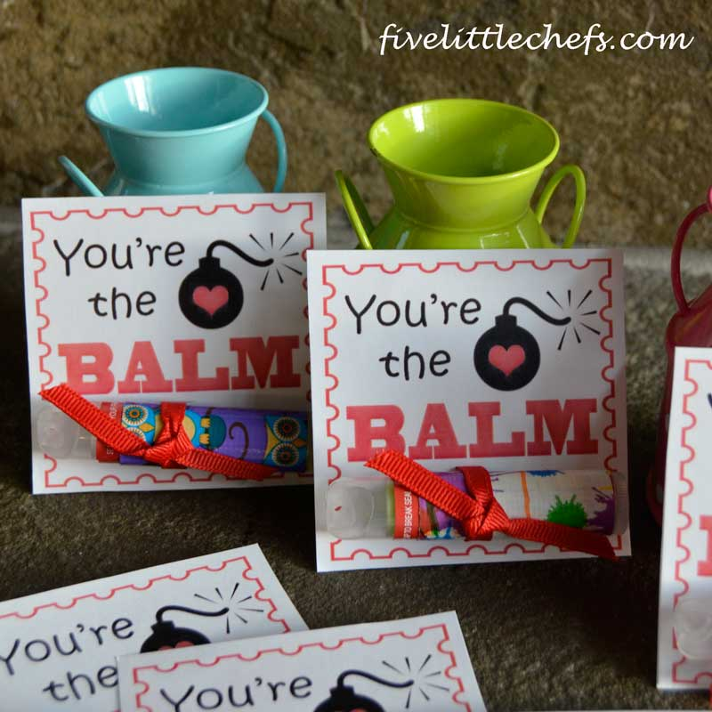 image about You're the Balm Free Printable referred to as Printable Valentines Working day Playing cards - Youre The BALM! 5