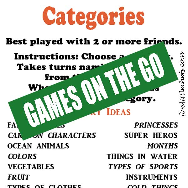 categories - car travel games