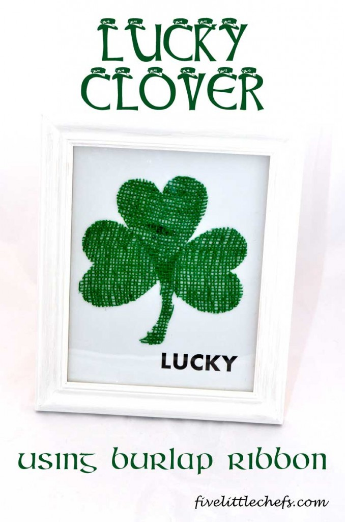 lucky clover st patricks day craft