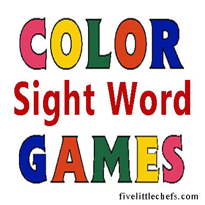 color sight word games