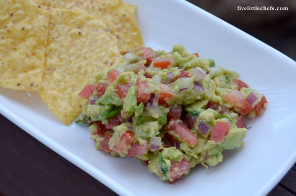 This Homemade Guacamole recipe is a perfect summer appetizer.