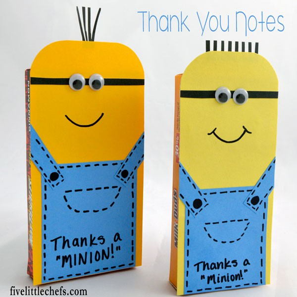 minion thank you five little chefs