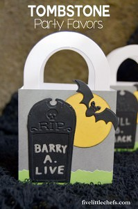 Tombstone Halloween Party Favors