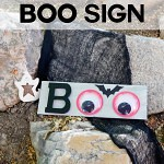 Halloween Decor: BOO Sign