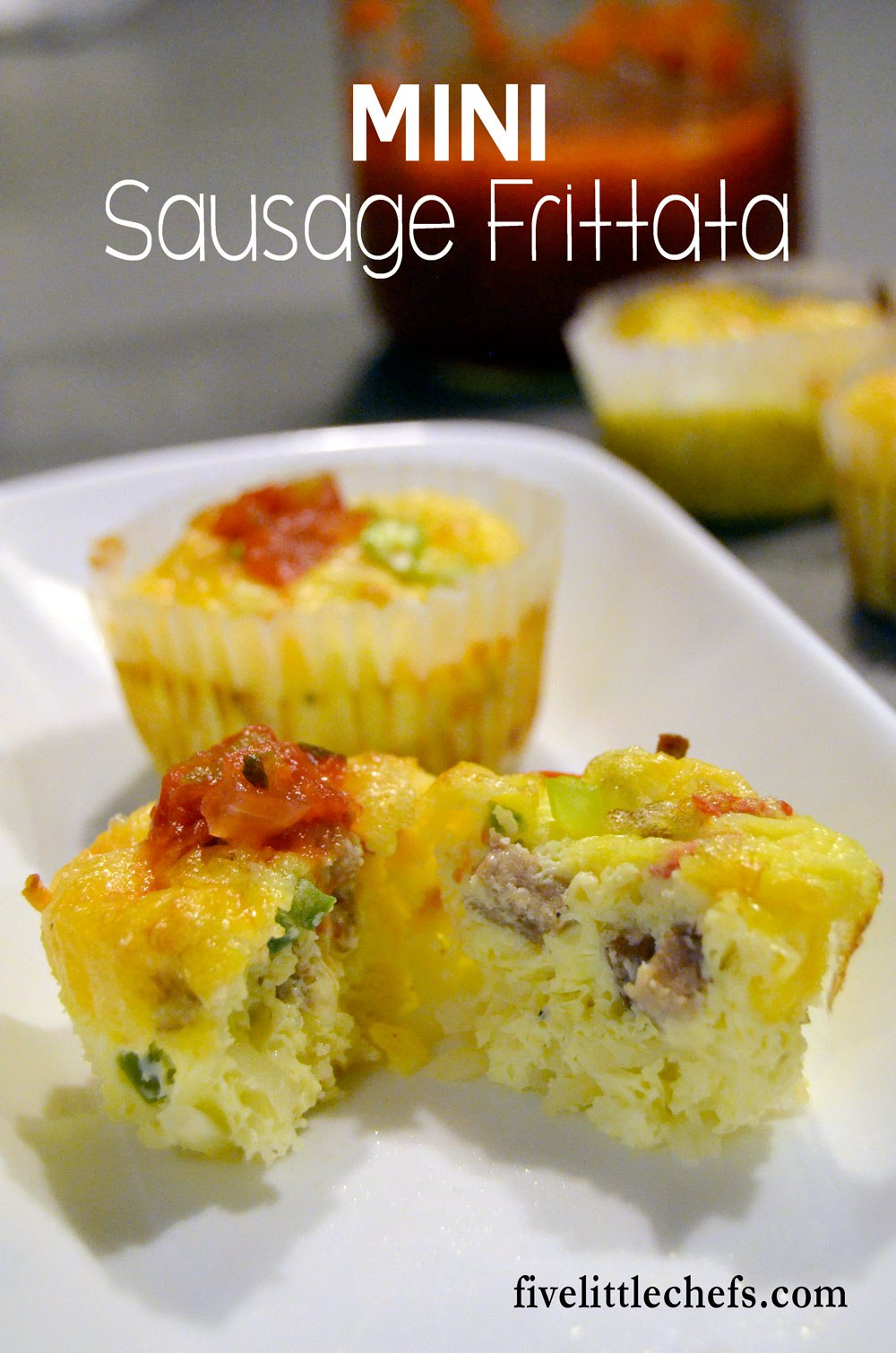 Mini Sausage Frittata | Five Little Chefs