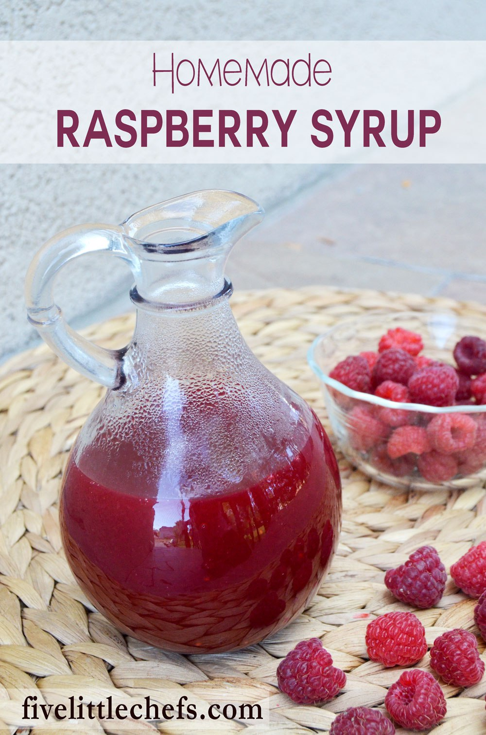 Homemade raspberry syrup is sweet which makes it perfect to put on french toast, pancakes or waffles. It is also delicious on top of a bowl of ice cream. This is an easy recipe to whip up!