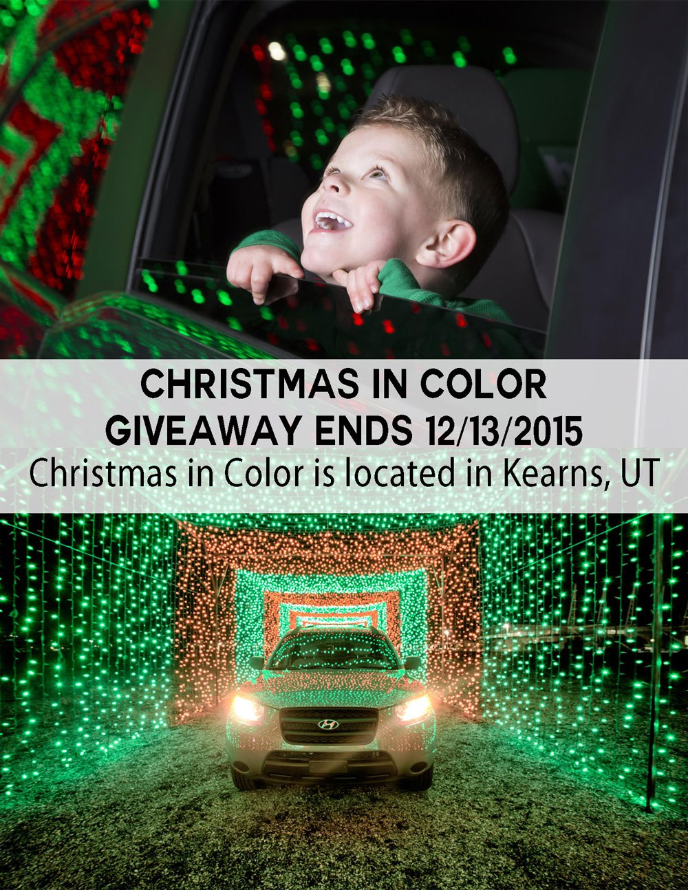 Enter this giveaway for a ticket to Christmas in Color located in Kearns, Utah. Contest ends 12/13/15