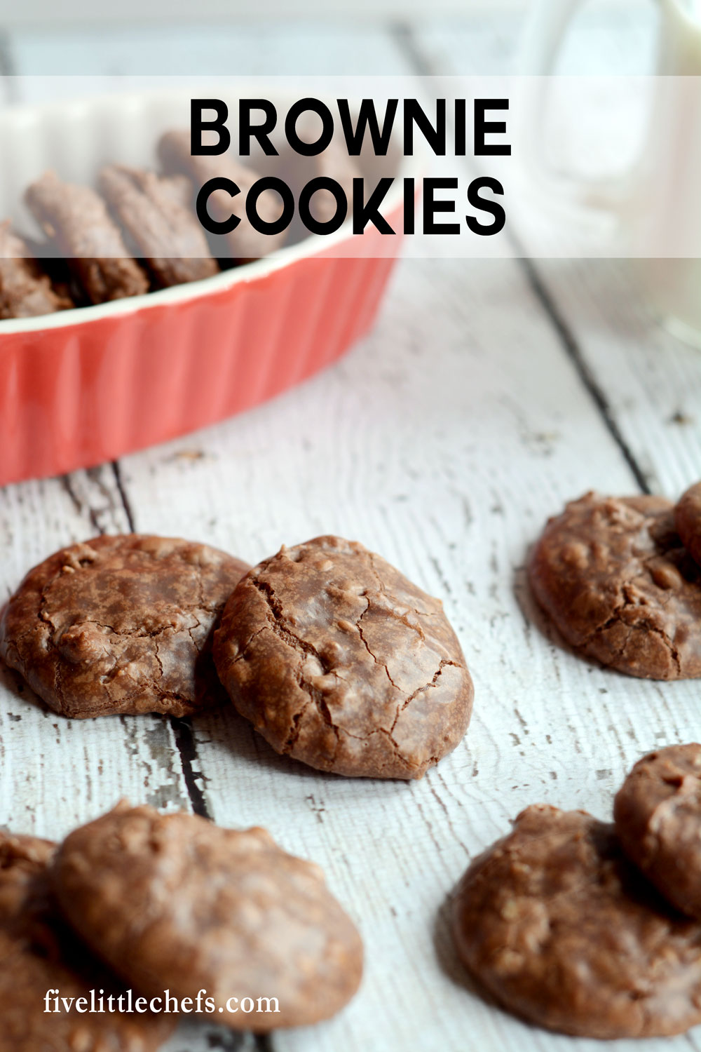 Brownie cookies are brownies and cookies all in one. If you love the chewy, chocolate corners of the brownie pan you will love these brownie cookies. This from scratch recipe is easy and fast. You will need to make a second batch!