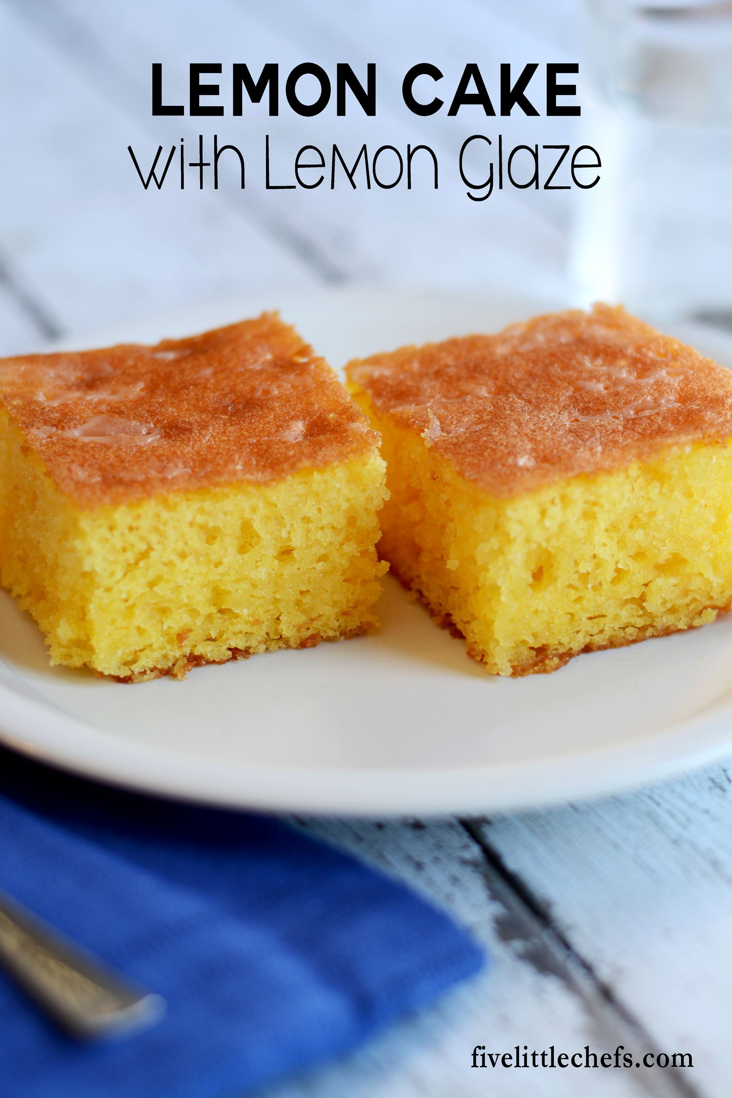 This moist lemon cake recipe has an easy lemon glaze that makes it one of the best desserts for any meal.