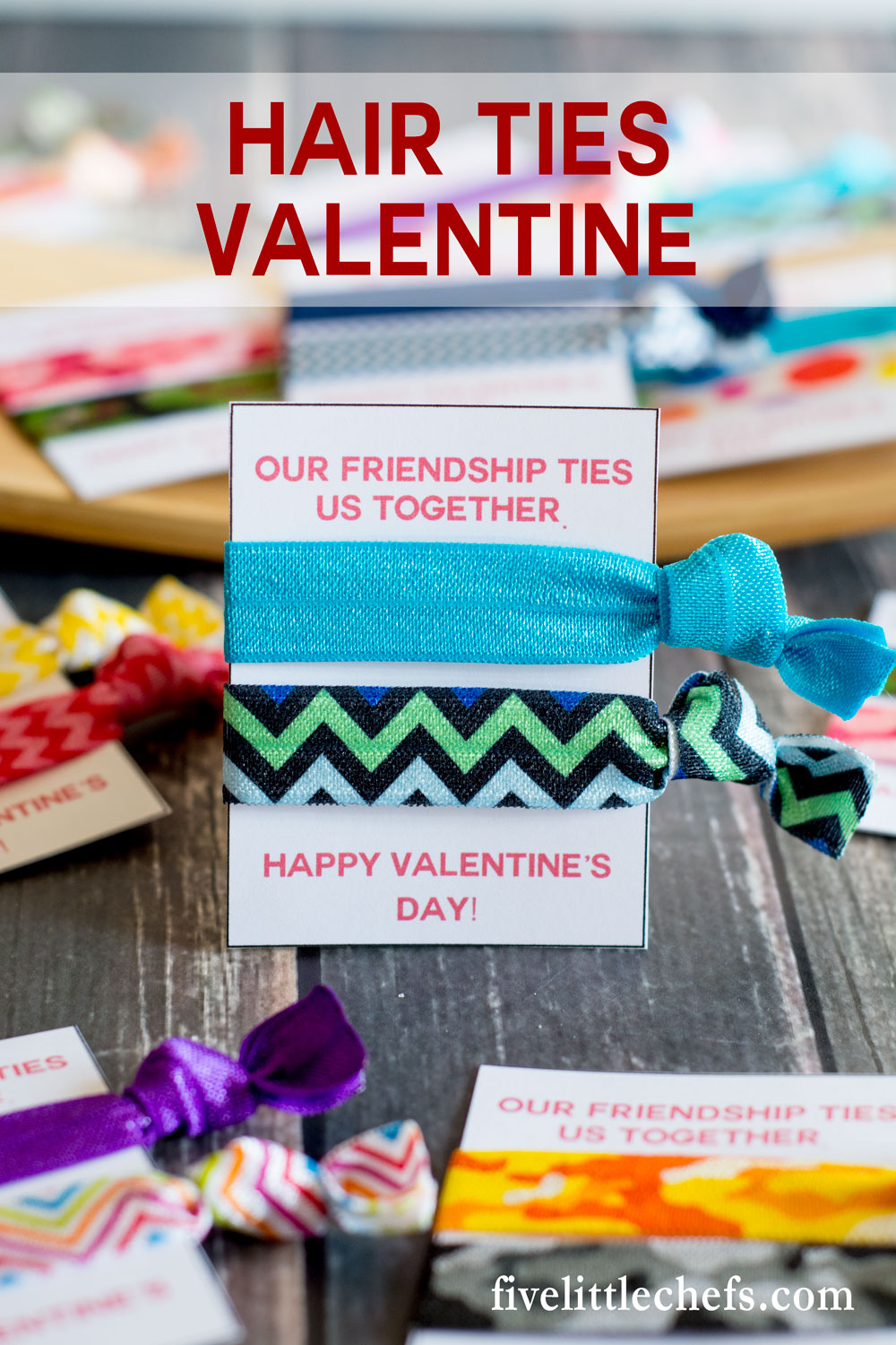 hair ties classroom valentine ideas for kids are cute cheap and easy use the - Valentine Ties