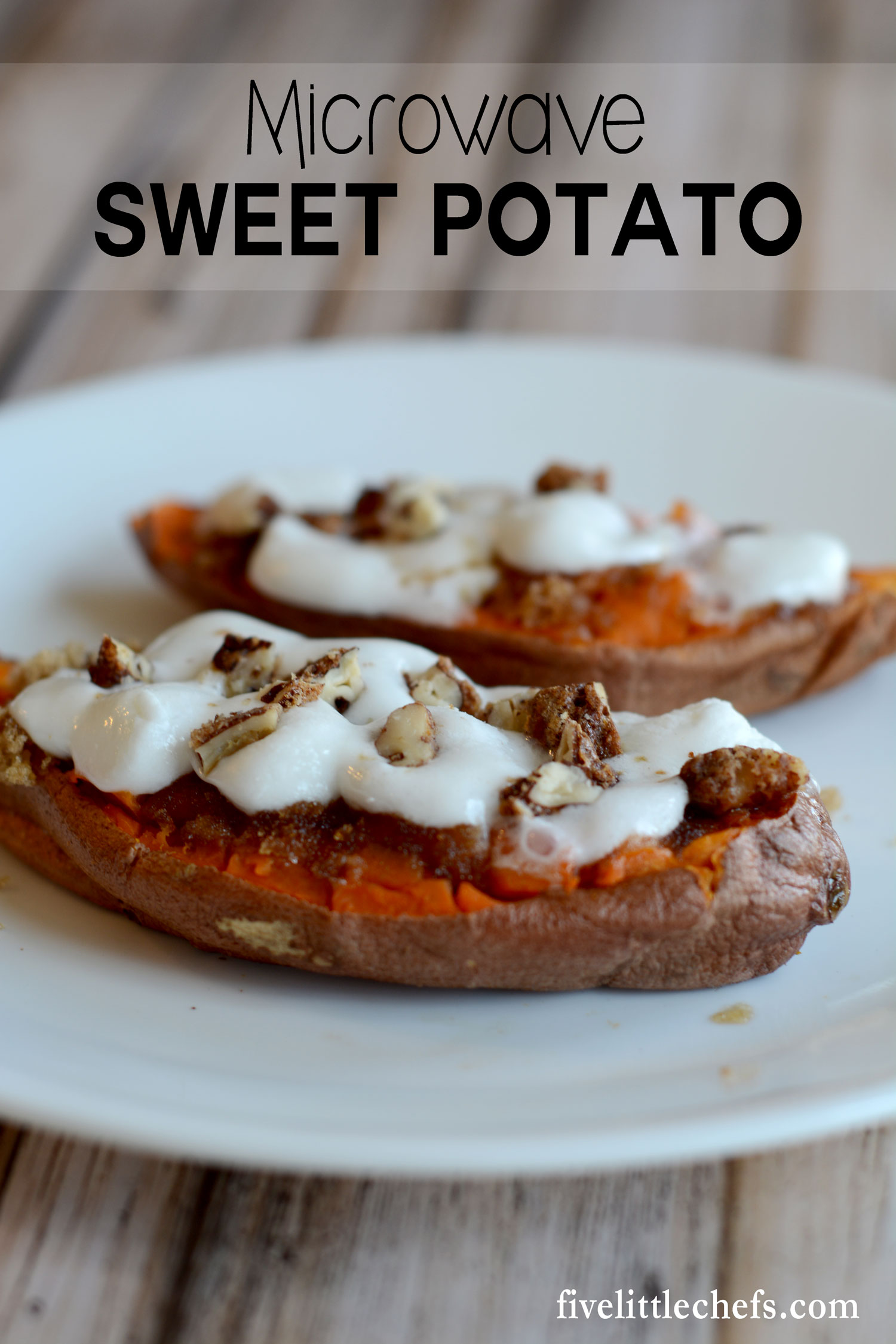 This Microwave Baked Sweet Potato recipe is easy and quick to make not just for Thanksgiving but for any time of the year. One sweet potato can serve 2 people. This is a great last minute side dish with amazing results!
