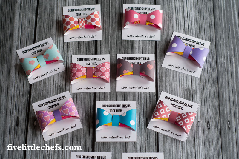 Kids Valentines - Bow Tie | Five Little Chefs