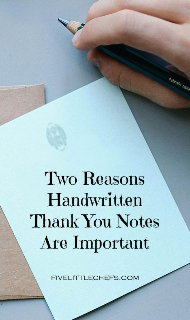 Two Reasons Handwritten Thank You Notes Are Important  Five Little