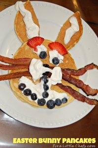 easter bunny pancake