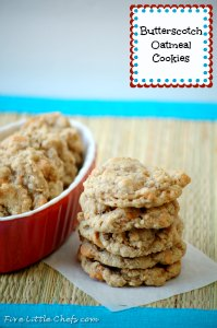 Butterscotch Oatmeal Cookies by fivelittlechefs.com - A soft and chewy Butterscotch Oatmeal Cookie #oatmeal cookie #cookies #recipe