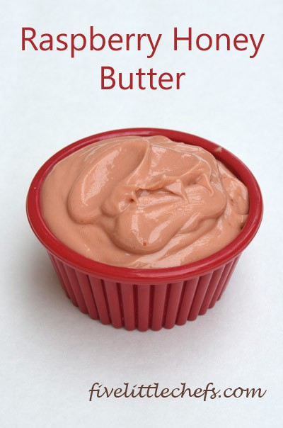 Raspberry Honey Butter from fivelittlechefs.com