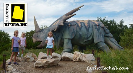 What to know when visiting the Ogden Dinosaur Park from fivelittlechefs.com #discoveringutah
