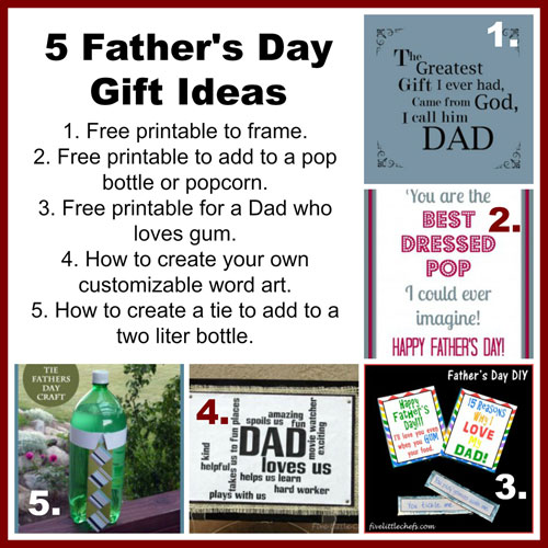 5 Father's Day Gift Ideas from fivelittlechefs.com #fathersday
