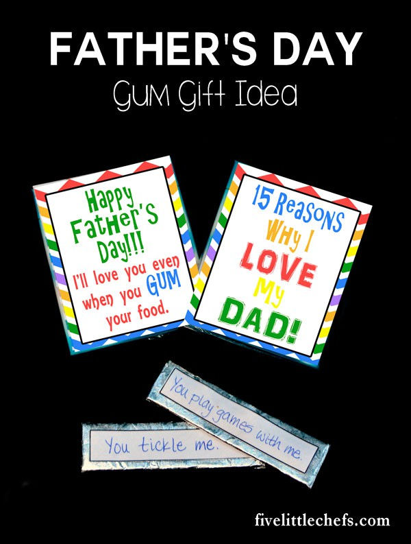 DIY Father's Day Gum Printable gift idea for kids.